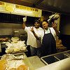 The cooks at Westport Flea Market Bar & Grill.