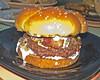 The Burgeroff 2007 champion -- the B Burger -- awaits the judges.