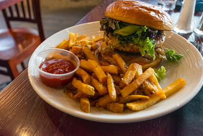 Turkey Burger With Fries