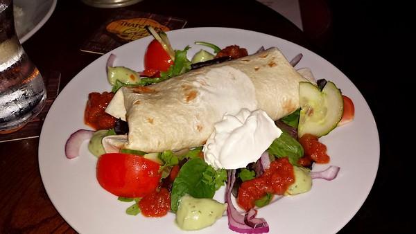 Burrito with chilli con carne
