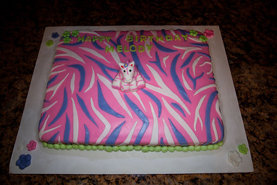 Pink Zebra cake for Melody's B-Day