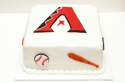 Arizona Diamondbacks fondant Birthday Cake
