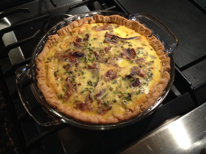 BACON BROCCOLI QUICHE