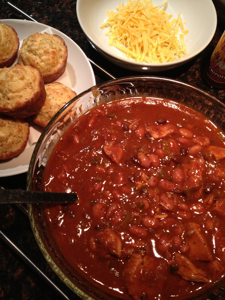 Pot Roast Chili and Cornbread