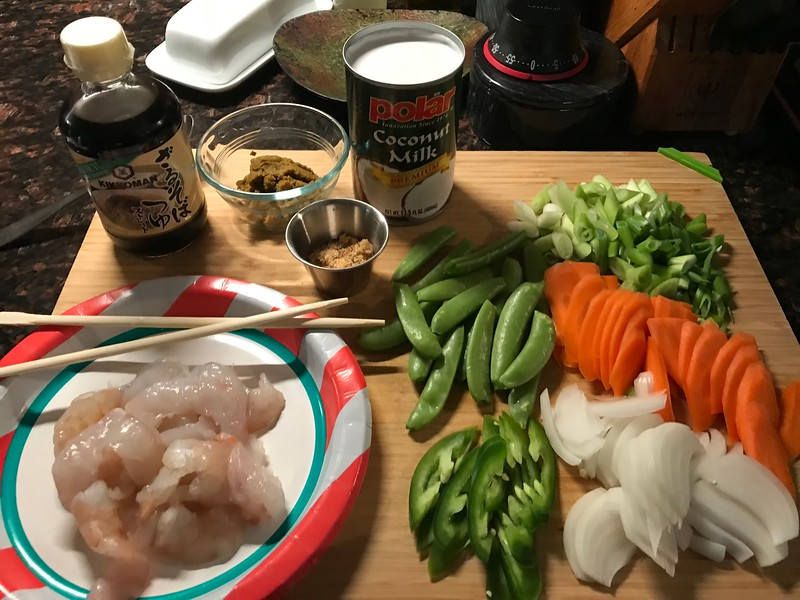 SIMPLE SHRIMP CURRY INGREDIENTS- 20 MINUTE MEAL