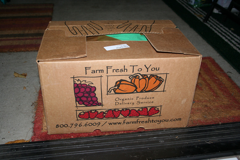 Our first delivery from Farm Fresh To You.