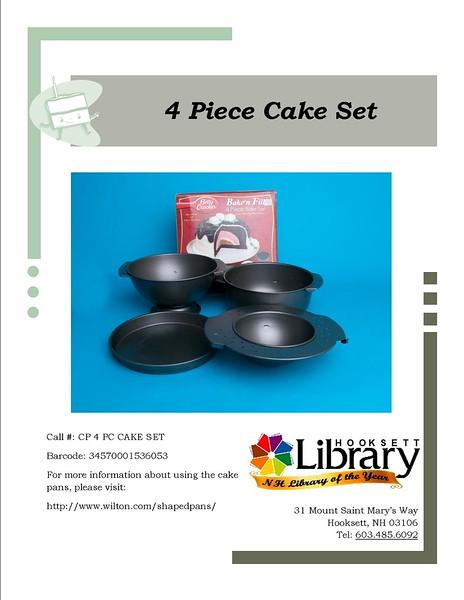 CP 4 PIECE CAKE SET