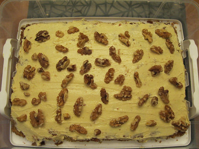Made Mom a carrot cake with all the ingredents she was able to eat. It turned out really yummy.  Oct 2010
