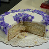 Purple petal cake:  This is a vanilla cake with vanilla pudding between the layers.