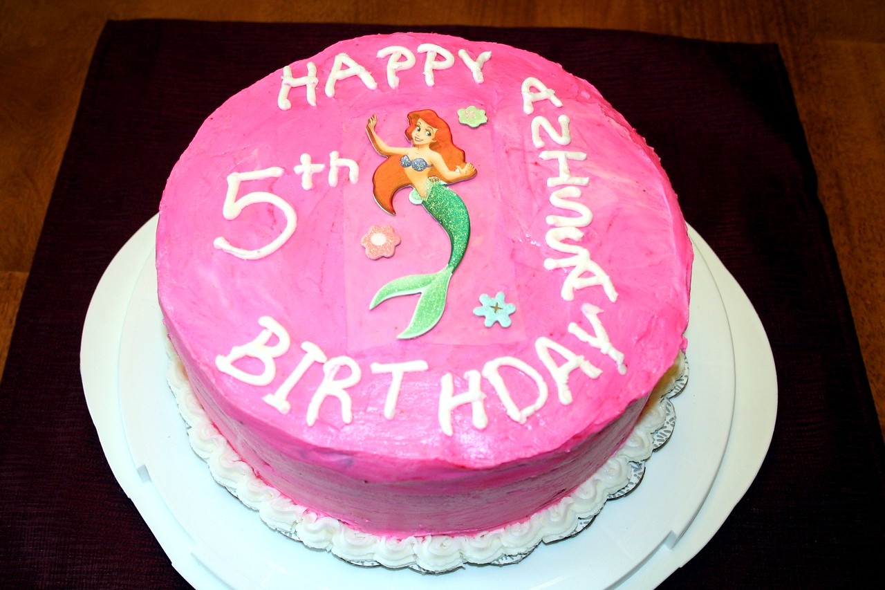 Anissa wanted a pink cake with Ariel on it for her Birthday. When she saw it she loved it! March 2010