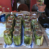 "1/2 bushel, ""quick pickled"" - not fermented. These are typically very crisp and tasty."