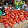 $30 worth of organic field tomatoes - approximately 40 pounds. Other ingredients make an appearance, too.