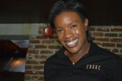 Victoria, our waitress