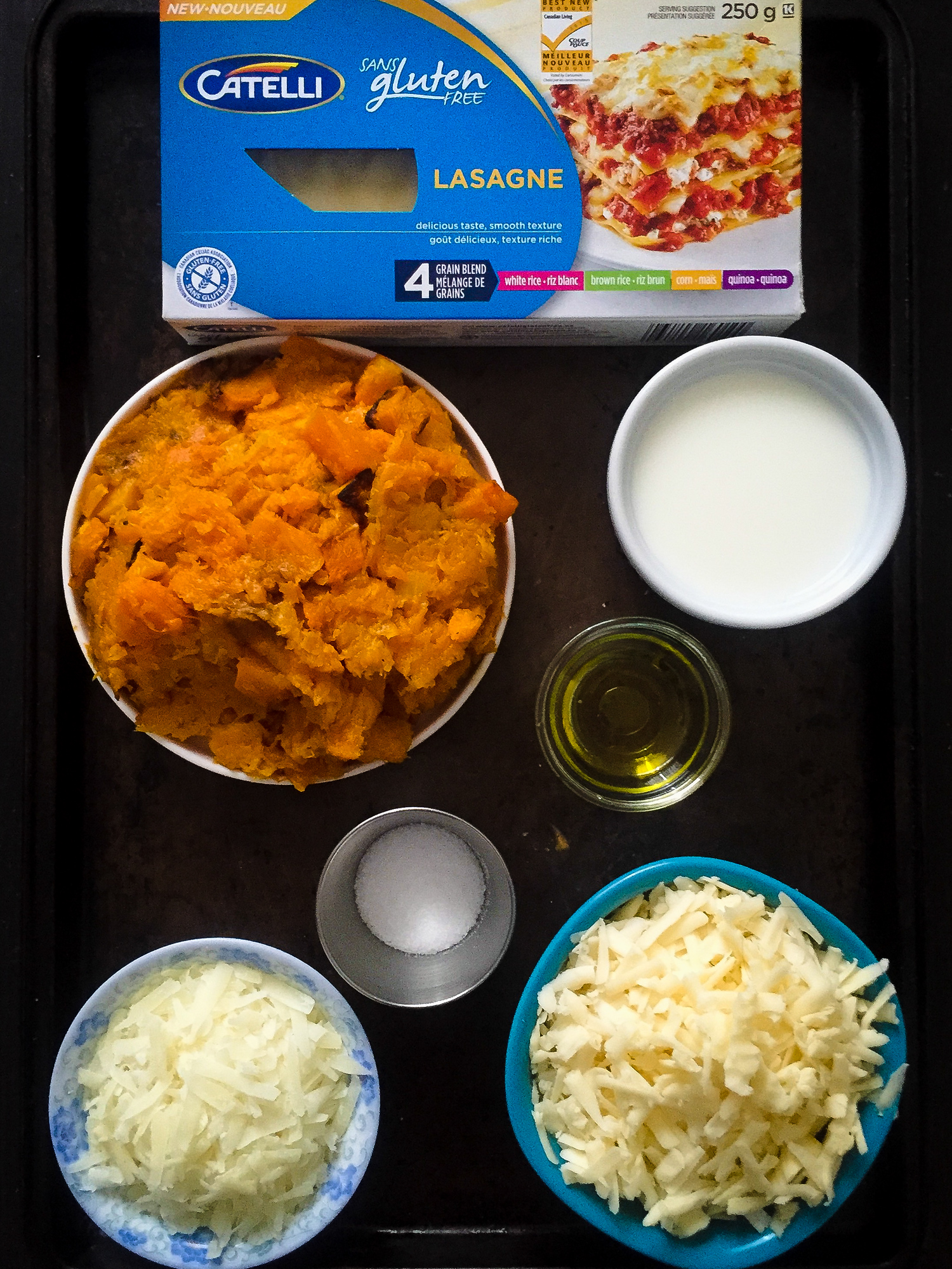 "SO EASY!> Butternut squash lasagna that's also gluten-free! Check out this easy lasagna recipe that everyone loves."" width=""1500″ height=""2000″></a></p><p>Lasagna isn't the only gluten free pasta, Catelli also offers penne rigate, fusilli, macaroni, spaghetti and spaghettini. There's no cholesterol or preservatives in the pastas, which are produced in Catelli's dedicated gluten free facility.</p><p style="