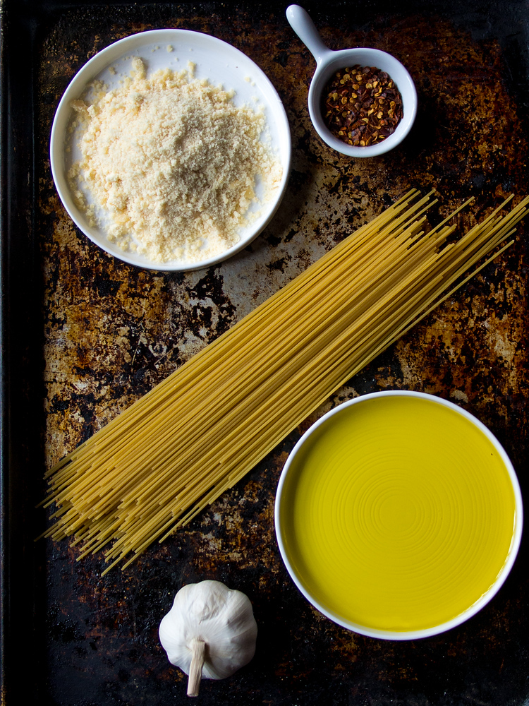 Spaghetti aglio olio is a classic Italian pasta with only five ingredients and can be made in less than 10 minutes.