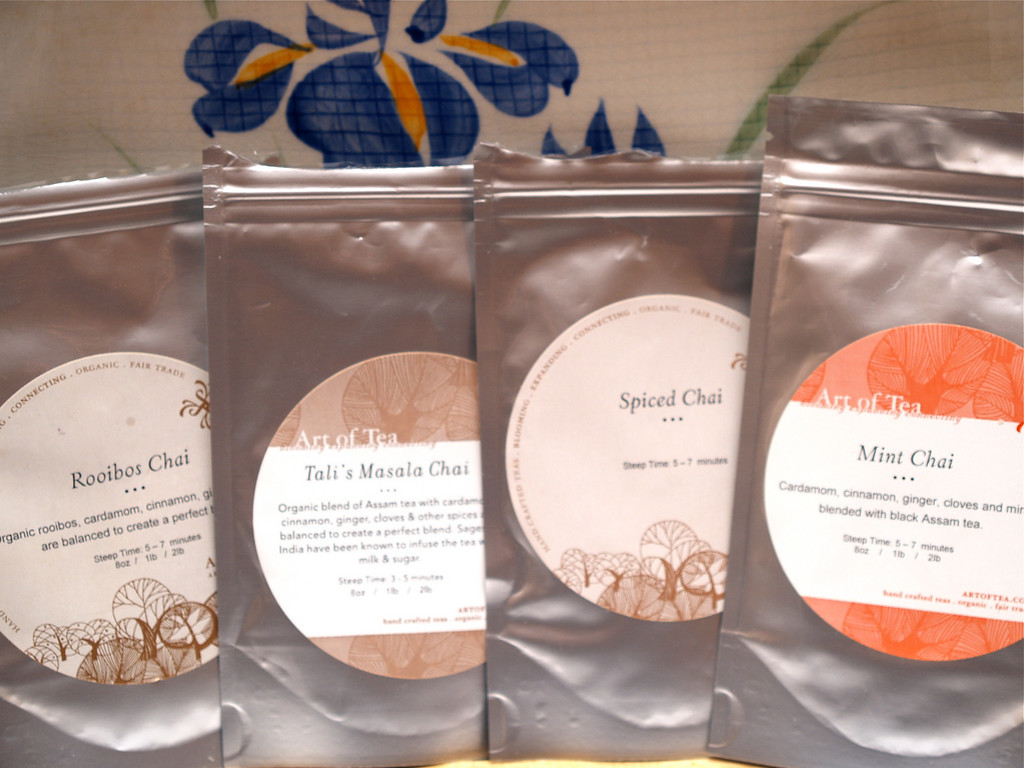 Art of Tea Rooibos, Tali's, Spiced, and Mint Chai