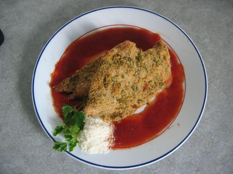 Chicken Parmesan in Marinara Sauce