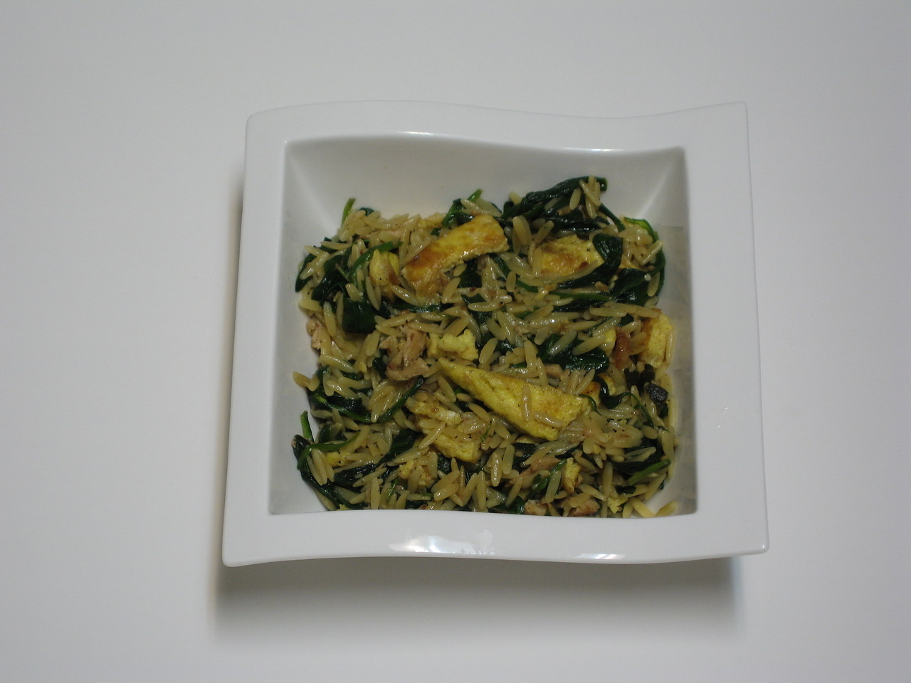 Orzo Sauteed with Chicken & Spinach in Beurre Noisette