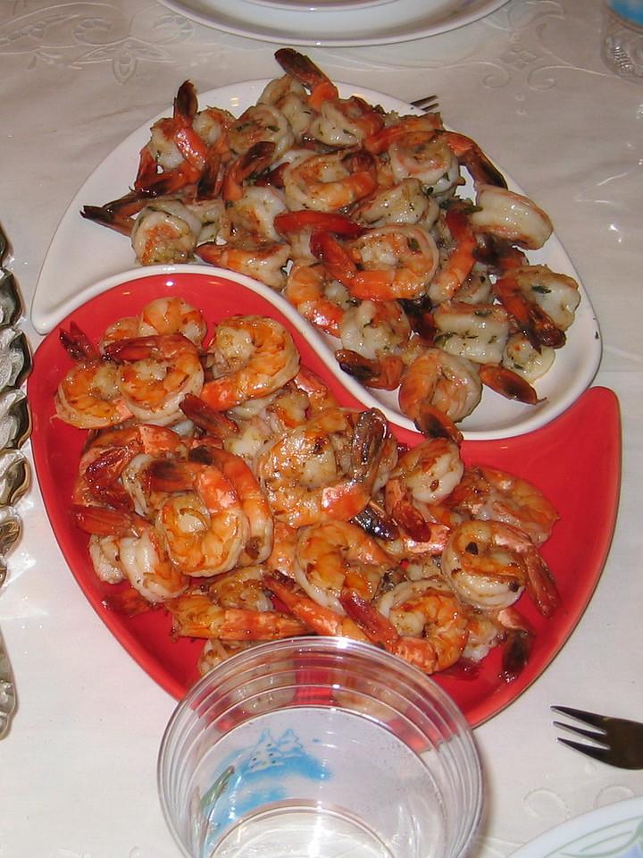 Ying Yang Shrimp - XO Chilli Sauce/Herb Crusted Shrimp