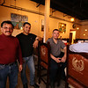 Herradura Vieja Restaurante Mexicano, new Mexican restaurant on Summer Street in Chelmsford. From left, owners Guillermo Bravo, Ramiro Ayala and Ramon Bravo, all of Nashua, and designer/managerTony Moreira of Merrimack, N.H. The Bravos are brothers and Ayala is their cousin. (SUN/Julia Malakie)