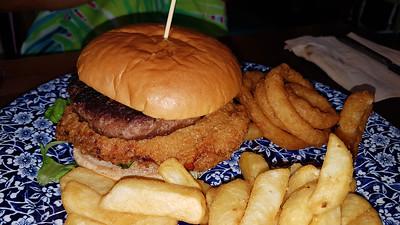 Buttermilk Chicken & Beef Burger