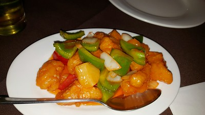 "Sweet & Sour Chicken Hong Kong Style. Served in ""Lai Ho"" in Swanage"