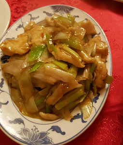 Chicken with leeks
