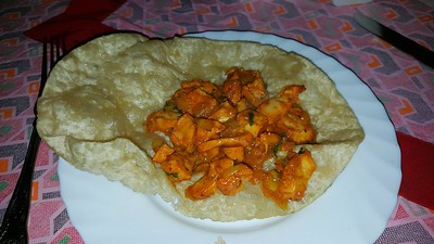 Chicken Chat Puri