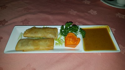 Satay Chicken Rolls