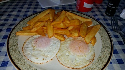 Fried Eggs & Chips