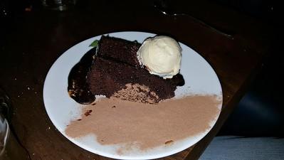 Chocolate Honeycomb Fudge Cake