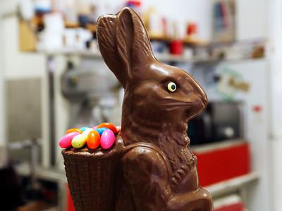 Chocolate bunny making