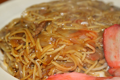 "Beef Chow Mein. Served in ""The Dragon King"" in Torquay  30/03/13"
