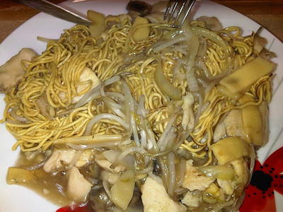 "Chicken Chow Mein - Served in ""Wok's Kitchen"" in Torquay  09/10/12"