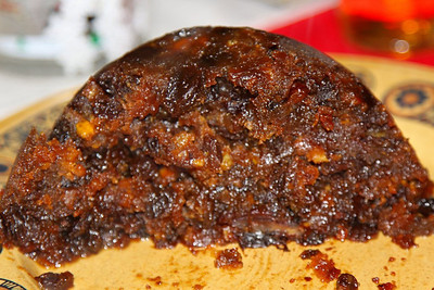 Sainsburys Christmas Pudding - with mixed fruit and nuts, cider, cognac, sherry, brandy and rum  26/12/12