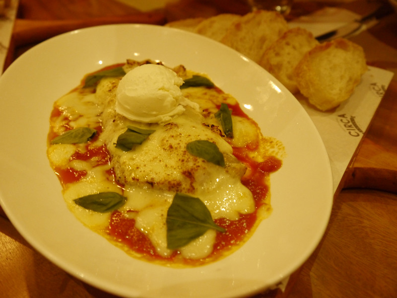 Baked fish fillet in ricotta cheese