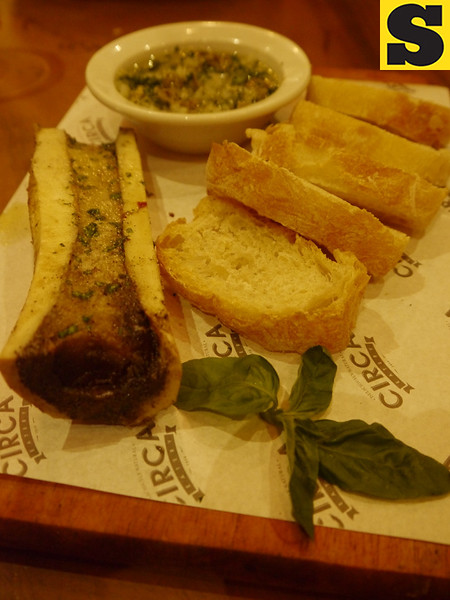 Baked bone marrow in bulalo shin