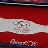 advertising the Beijing Olympics on a Coke machine in Tokyo.