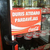 a Coke cooler in a shop in Vilnius, Lithuania.