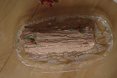 Xmas log cake