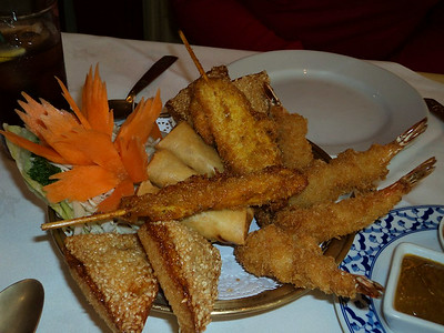 "Combo Sharer. Served in ""Montien"" Thai Restaurant in Bridport  01/07/14"