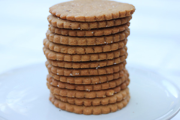 Gingersnaps: More like a ginger shortbread. Three types of ginger.