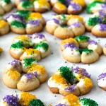 King Cake Spritz Cookies