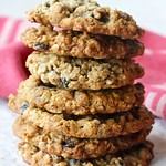 Triple Oatmeal Cookies with Blueberries