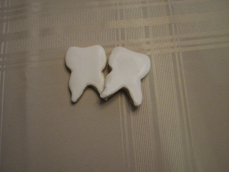 Teeth Cookies (Someone got a visit from the Tooth Fairy)