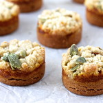 Spiced Pumpkin Sablés with Pumpkin Seed Streusel