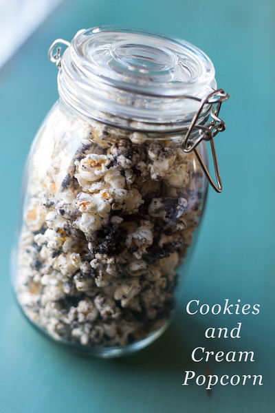 Cookies and Cream Popcorn - so addictive!!!