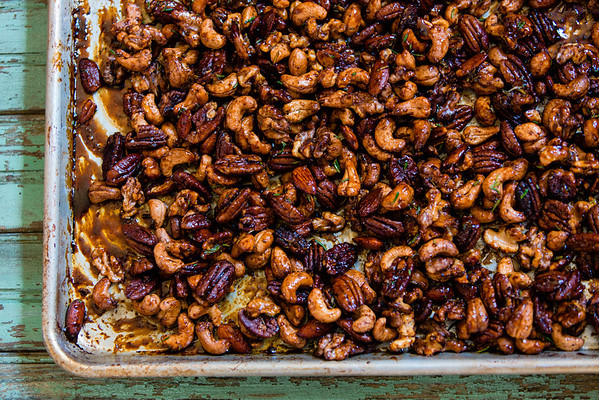 Chipotle Rosemary Roasted Nuts