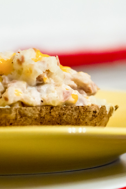 Cheesy Tuna Stuffed Baked Potatoes Sidewalk Shoes