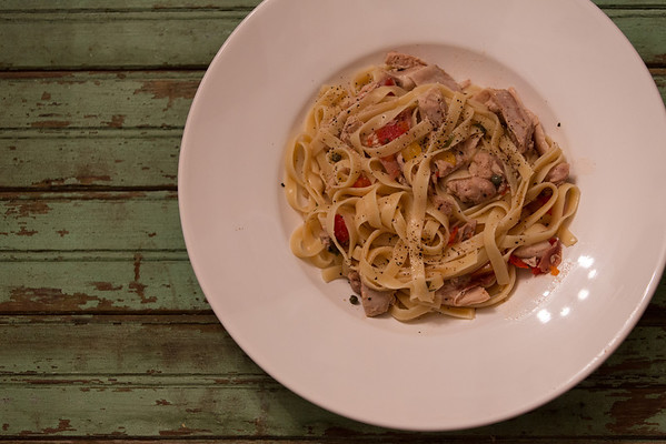 Roman-style Fettuccine with Chicken